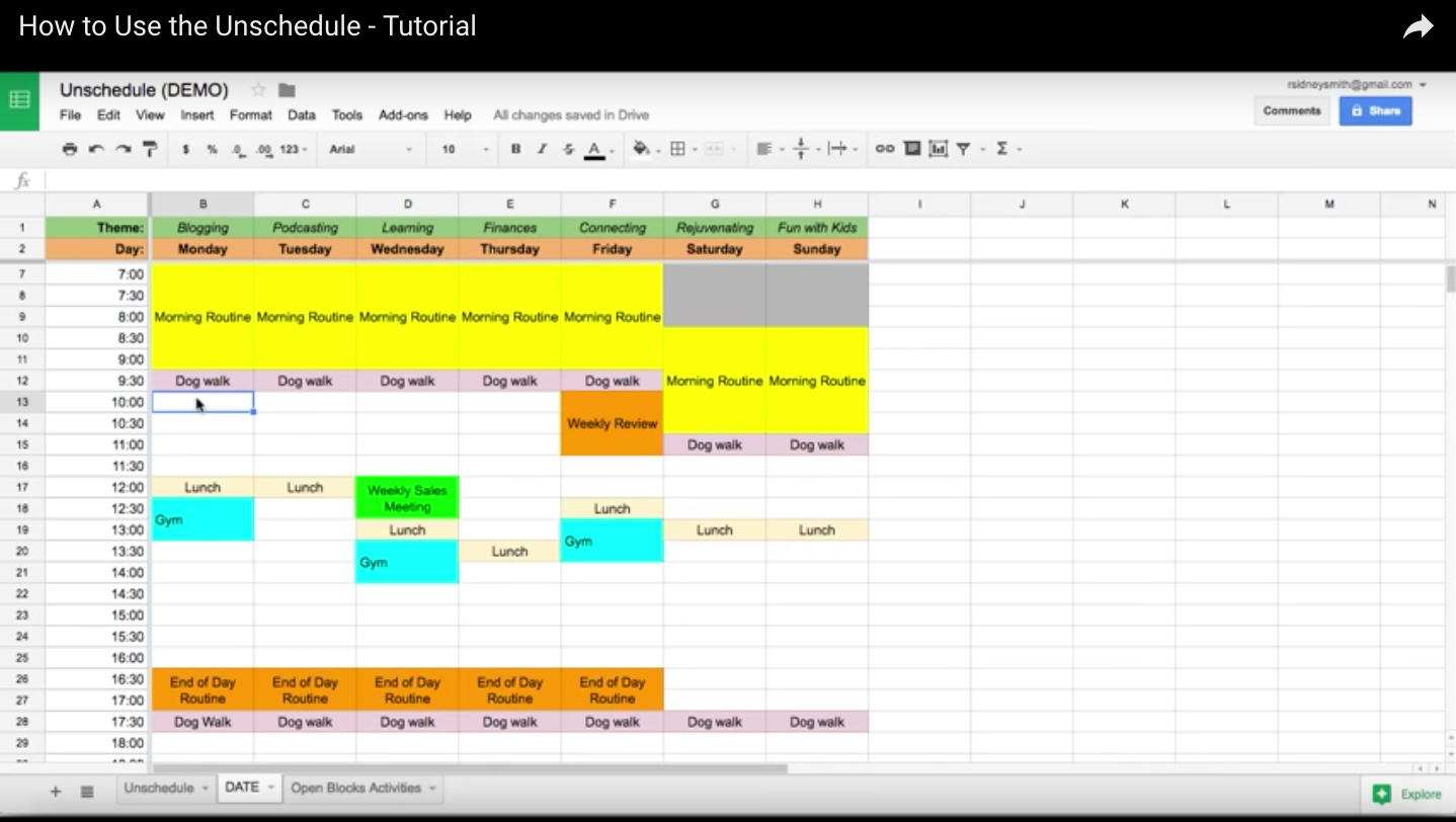 How to Use the Unschedule - Tutorial