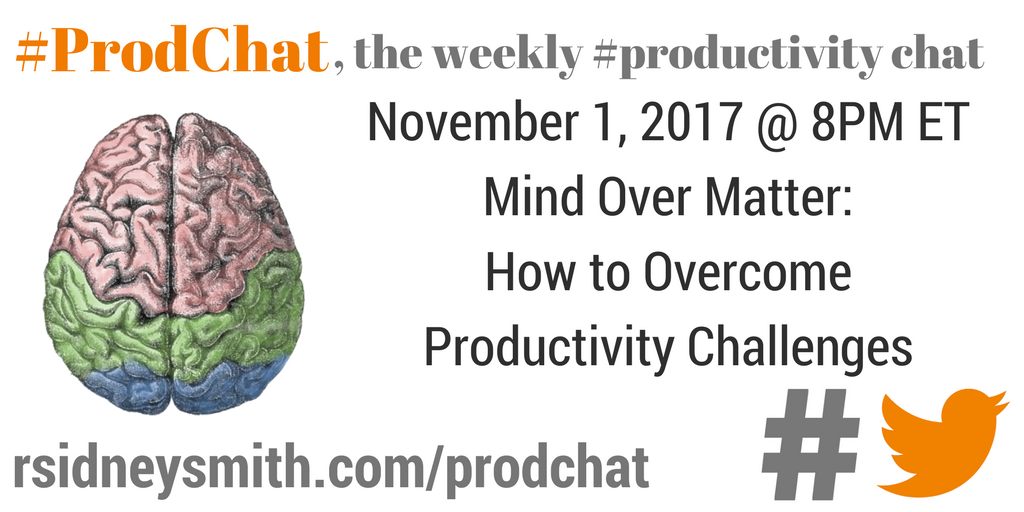 ProdChat - Mind Over Matter - November 1 2017