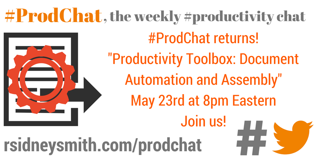 Productivity Toolbox: Document Automation and Document Assembly